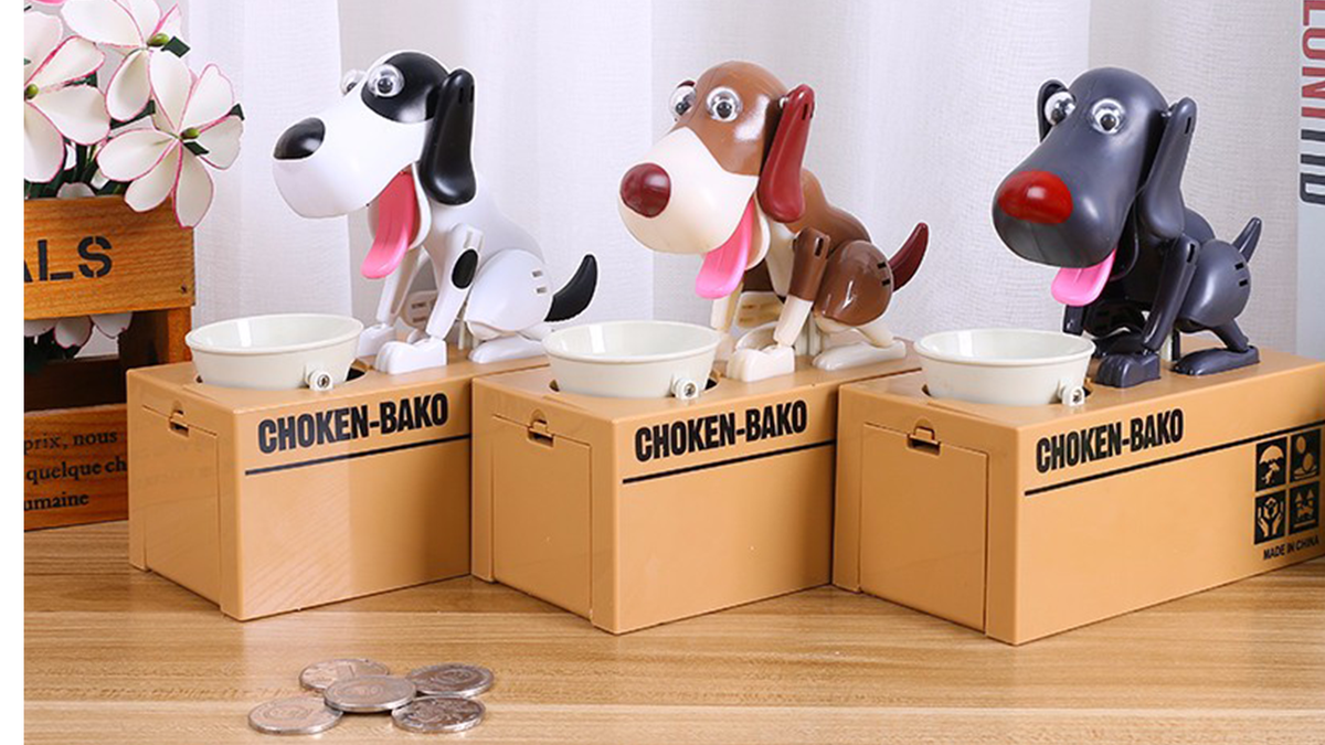 Adorable Puppy Bank