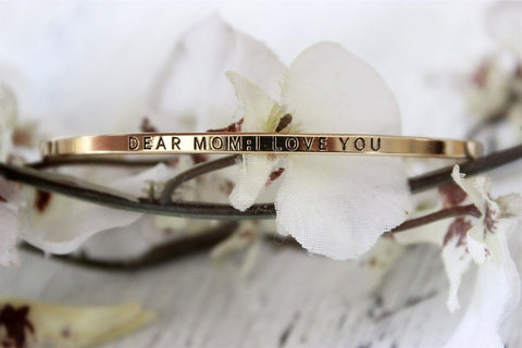 Dear Mom, I Love You Bracelet | Gold and Silver-2 Girls 1 Shop