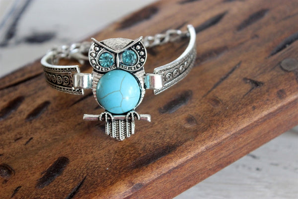 Beautiful Silver and Turquoise Bracelet-2 Girls 1 Shop