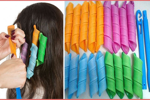 Magic Hair Curlers -18 Curlers with 2 Hooks!-2 Girls 1 Shop