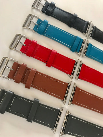 Luxury Genuine Leather Band For Apple Watch-2 Girls 1 Shop