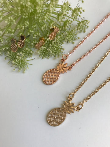 Pineapple Necklace Set