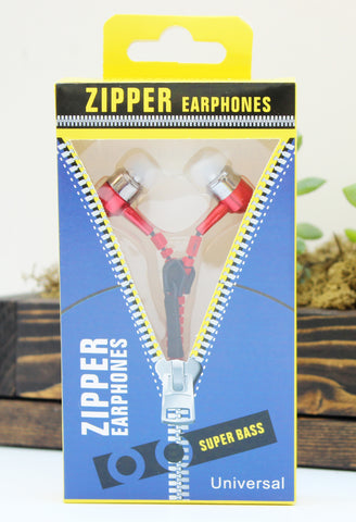 Zipper Style Earbuds with Volume Control-2 Girls 1 Shop