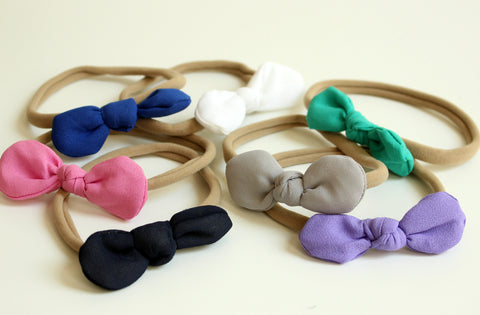 Infant Soft Bow Headband | Many Colors-2 Girls 1 Shop