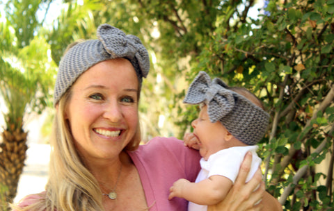 Mommy and Me Bow Knit Headwraps-2 Girls 1 Shop