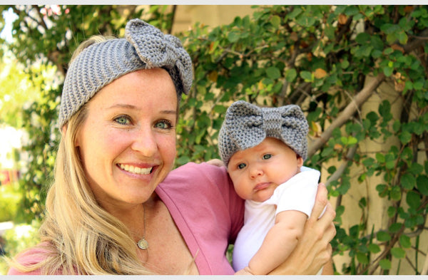 Mommy and Me Bow Knit Headwraps