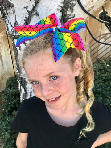 Rainbow Mermaid/Unicorn Bows