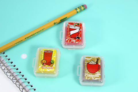 Set of 3 Scented Eraser Smashups