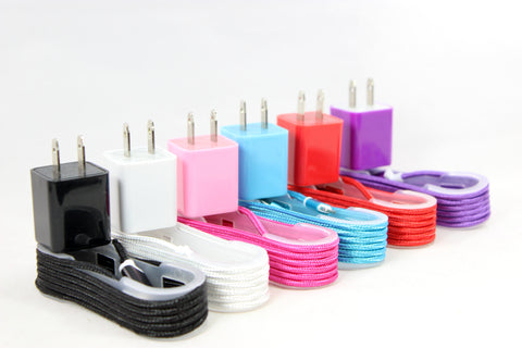 Cord and Charger Combo Kit IPHONE - 6 Colors!