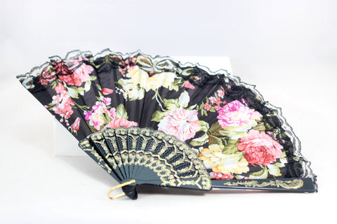 Stunning Floral Fan - 5 Colors!