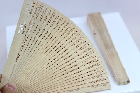 Beautiful Compact Wood Fan
