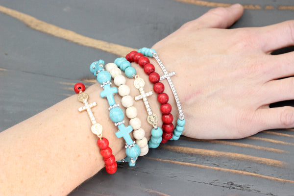 women screen s stacked blue pm bracelet anklets pelican trendy bracelets gifts shot at womens ideas
