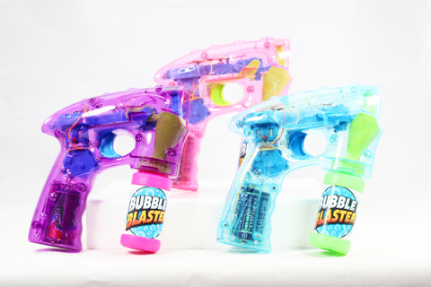 LED LIGHT-UP BUBBLE BLASTER W/SOUND 3 COLORS