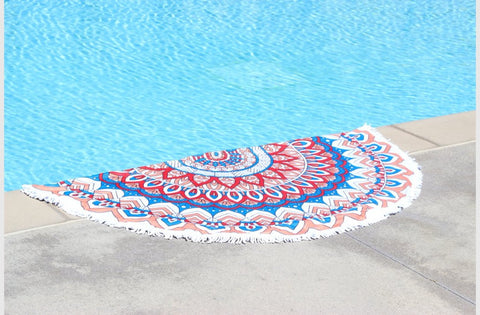 Printed Round Towels