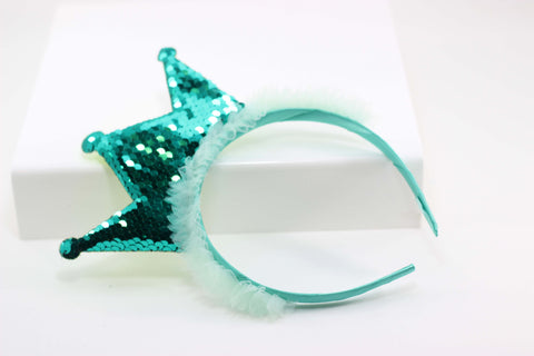 Sequin Crown Headband