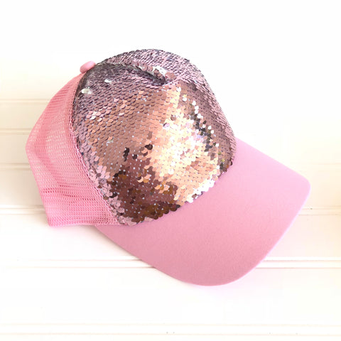 Mermaid Sequin Trucker Hat