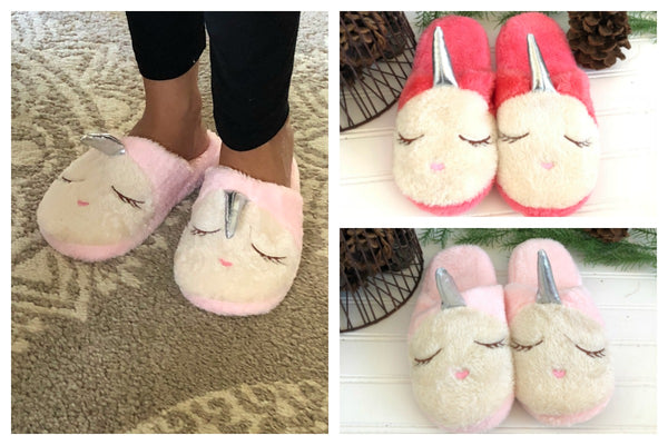 Warm Unicorn Slippers 2 Colors