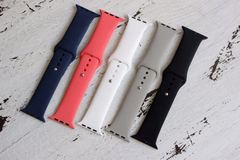 Silicone Band For Apple - 5 Colors!-2 Girls 1 Shop