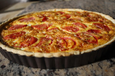 Oven Roasted Tomato Quiche with UP Extra Virgin Olive Oil Pastry Crust