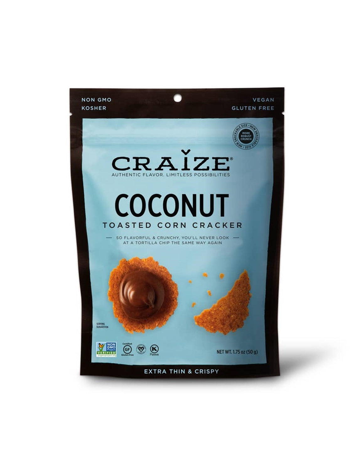 Craize Toasted Corn Crackers - Coconut