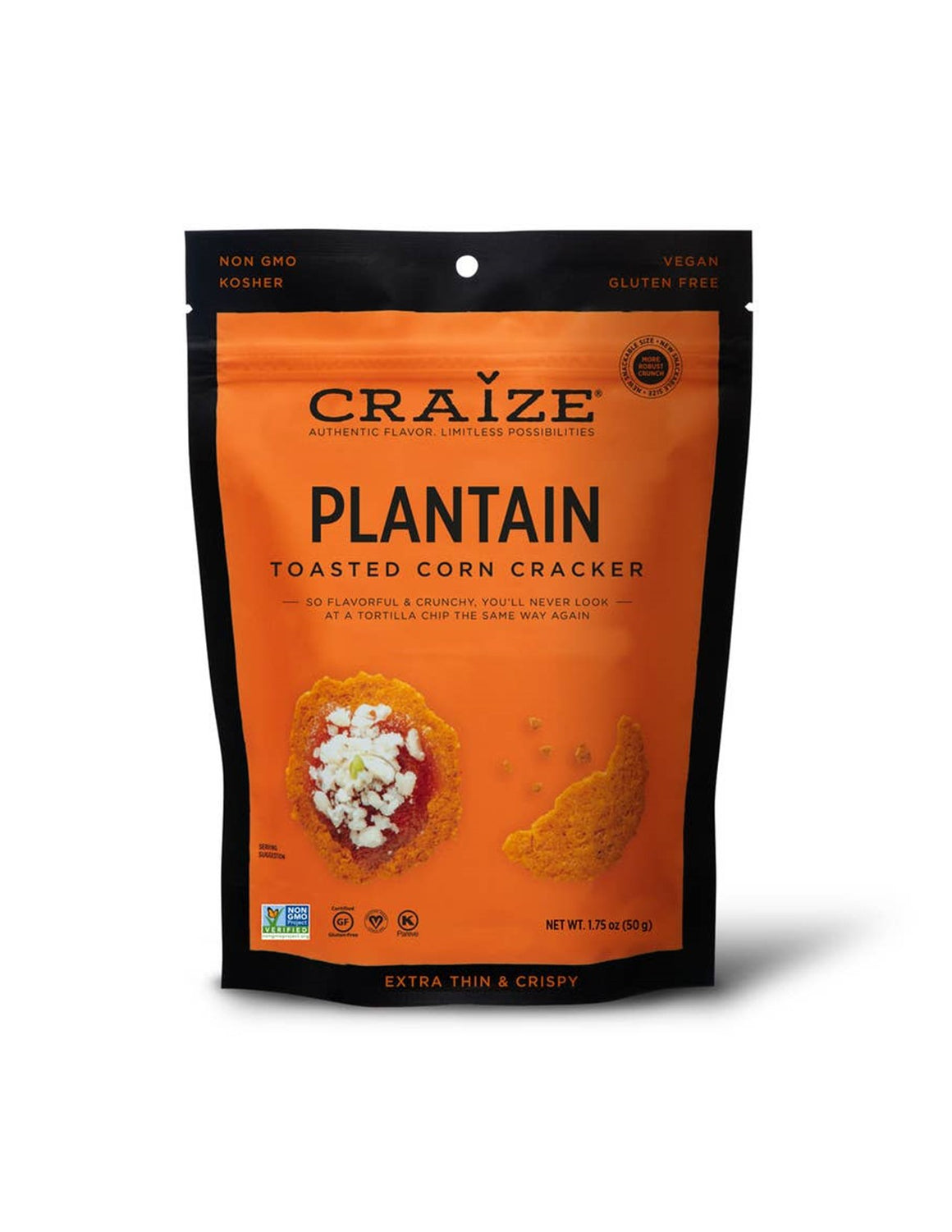Craize Toasted Corn Crackers - Plantain