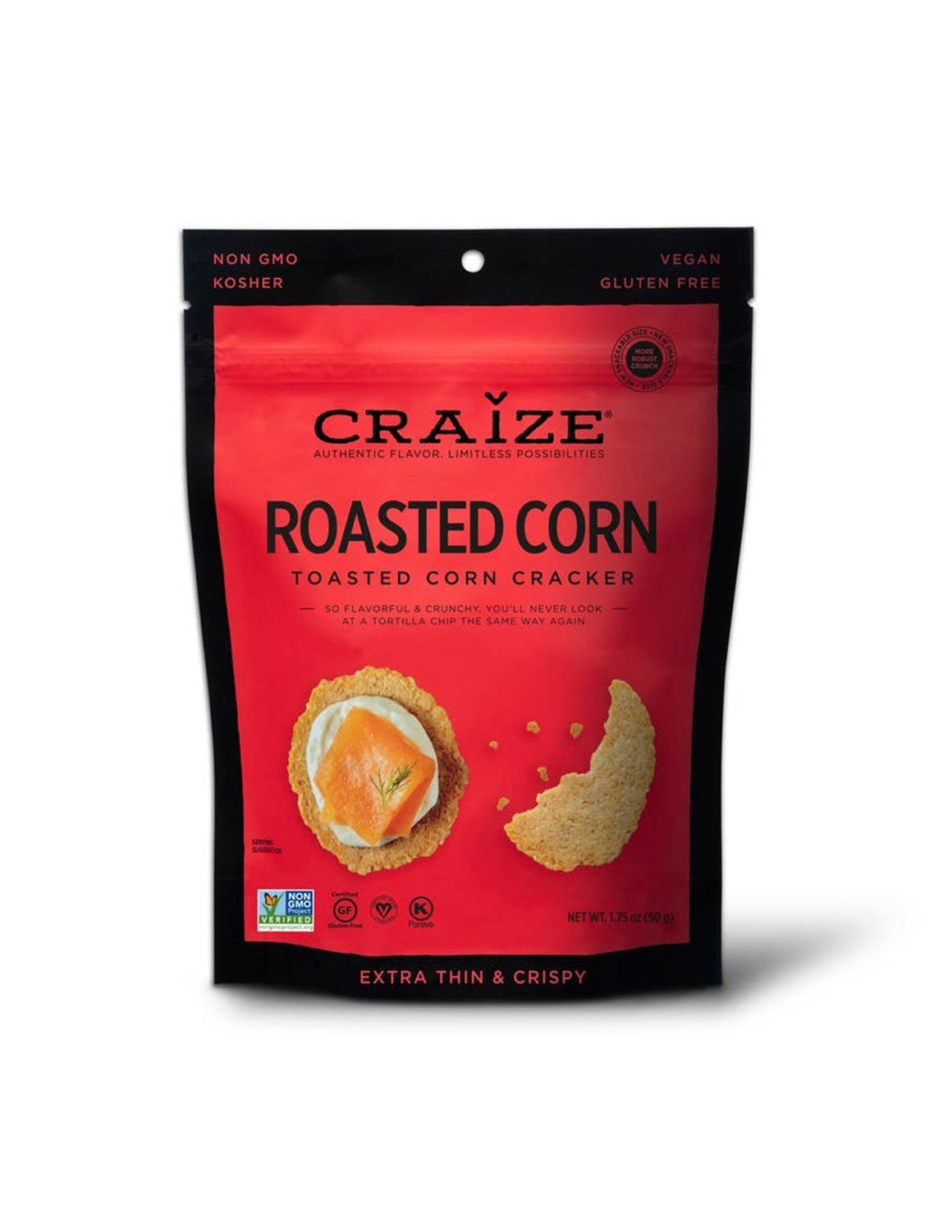 Craize Toasted Corn Crackers - Roasted Corn