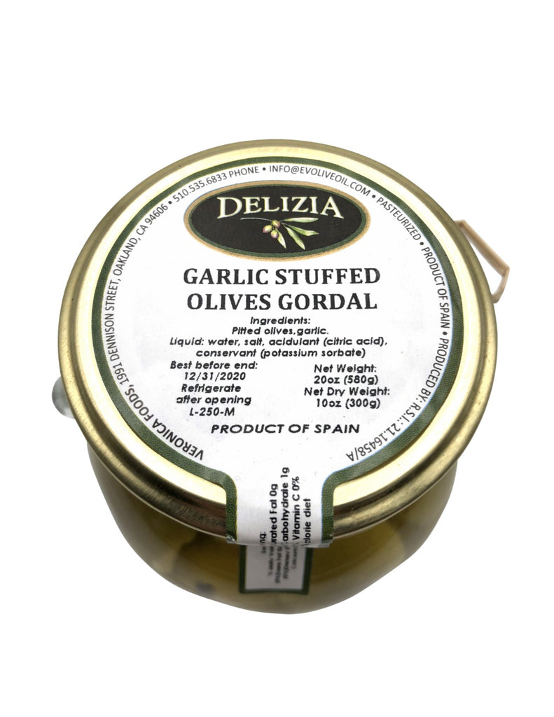 Delizia Garlic Stuffed Gordal Olives