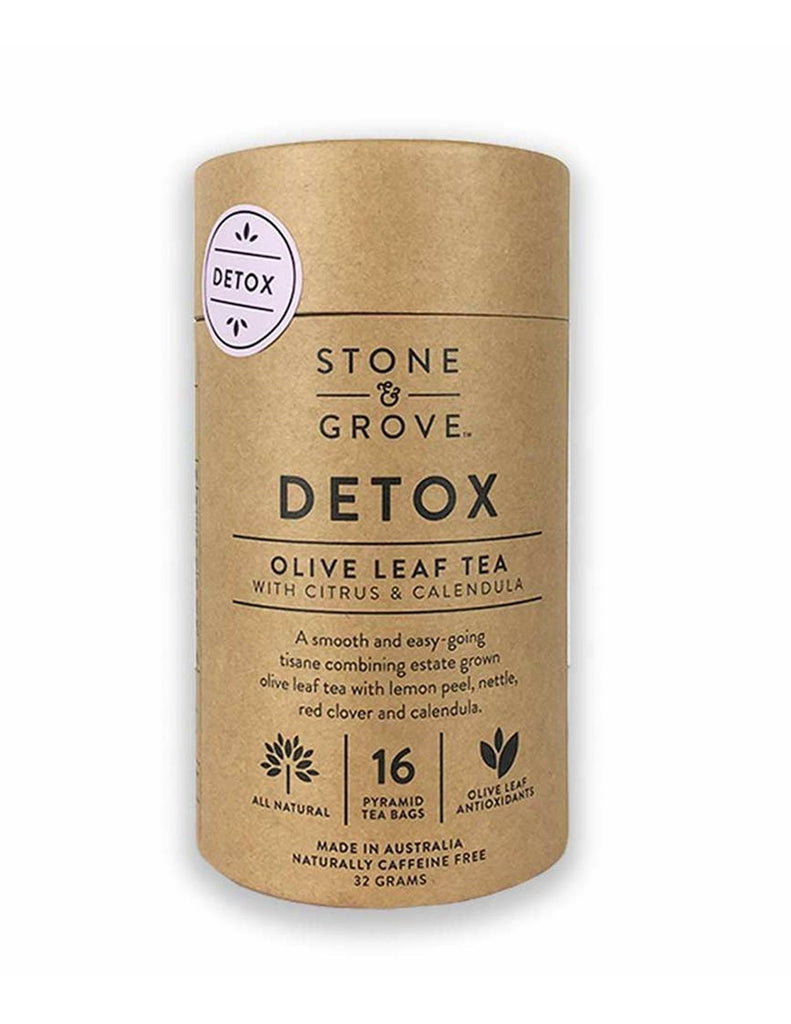 Stone & Grove - Detox Olive Leaf Tea with Citrus & Calendula