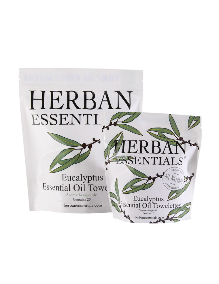 Herban Essentials - Eucalyptus Essential Oil Towelettes