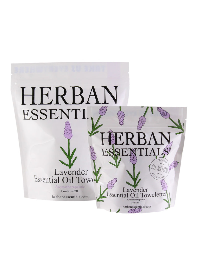 Herban Essentials - Lavender Essential Oil Towelettes