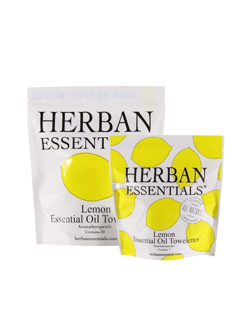 Herban Essentials - Lemon Essential Oil Towelettes