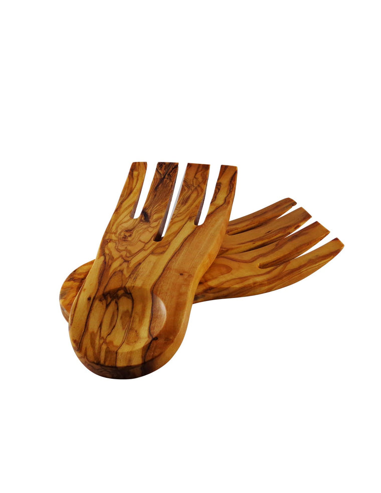 Pair of Olive Wood Salad Hands