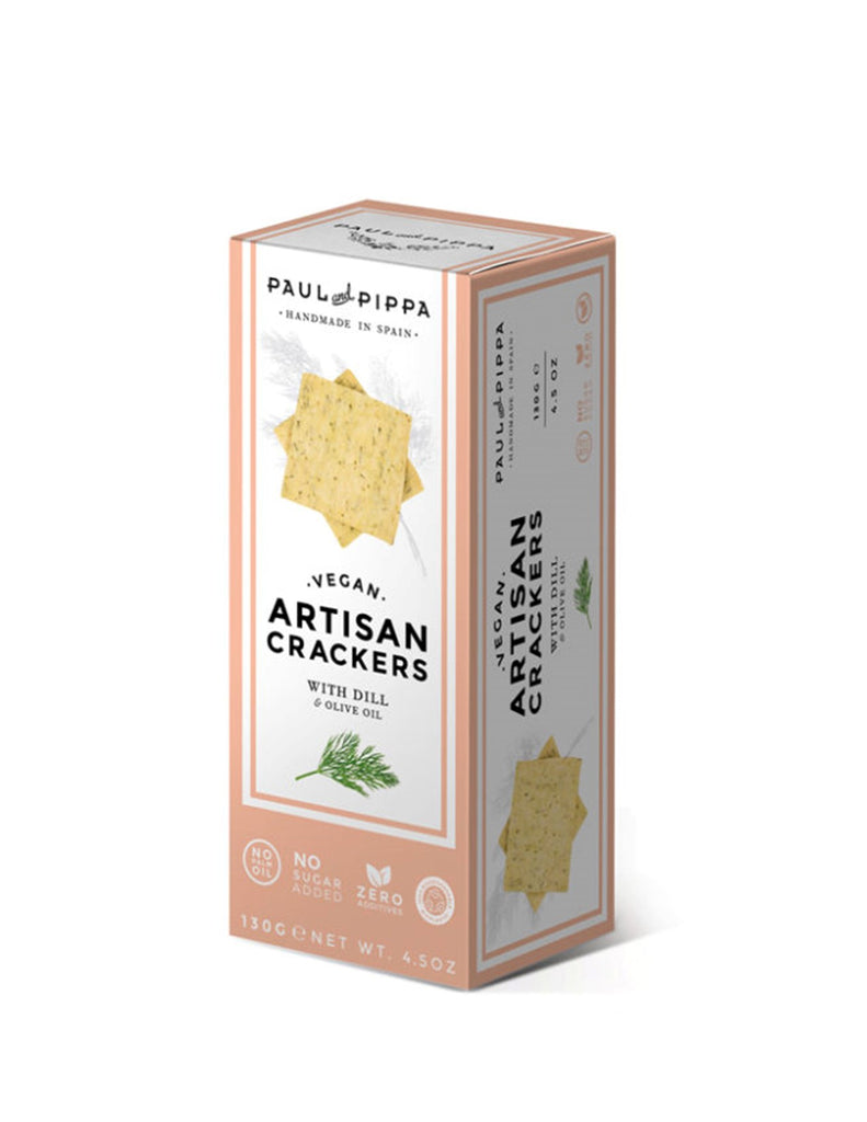 Paul and Pippa Vegan Artisan Crackers with Dill and Olive Oil