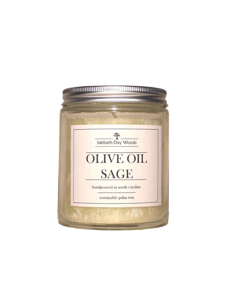 Sabbath-Day Woods Olive Oil Sage Candle