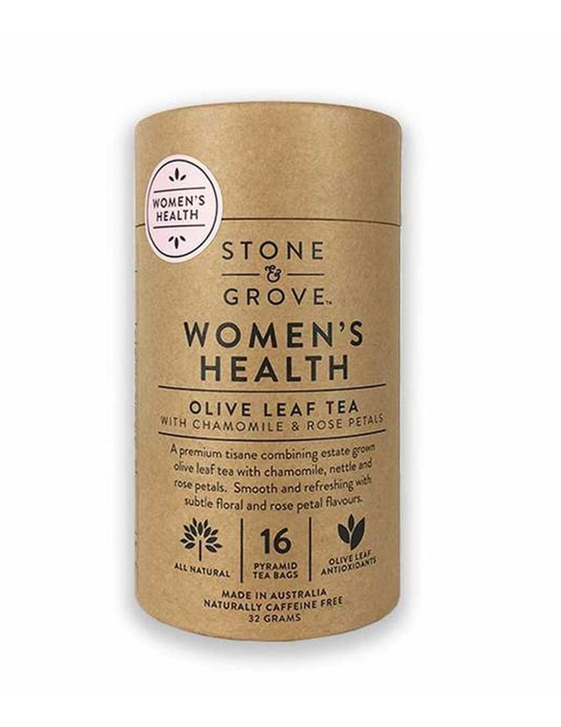Stone & Grove - Women's Health Olive Leaf Tea with Chamomile & Rose Petals