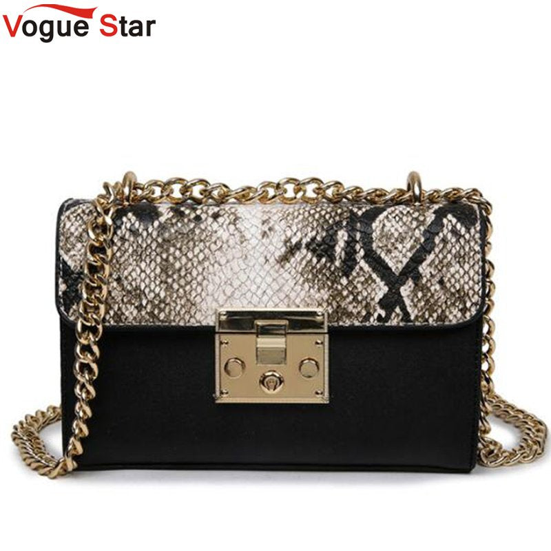 2018 new chain women bag leopard messenger bag fashion one shoulder oblique cross package LB417