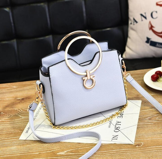 2018 casual chains metal handle small handbags hotsale laides purse famous brand women evening clutch messenger shoulder bags