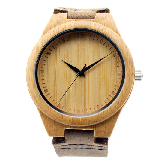 Tasteful Vintage-feel Bamboo Watch