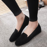 Women Ladies Slip On Flat Round Toe Shallow Shoes Sandals Casual Shoes