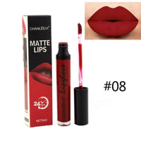 Sexy Lipstick Liquid Color Nude Matte Pigment Cosmetic Long lasting Red Velvet Purple Matte Lip Gloss Makeup Beauty