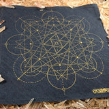 Crystal Grid Design 3 - Charcoal and Gold