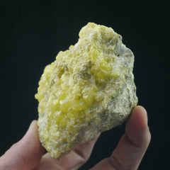 Sulfur on Matrix - Enchanted Crystal