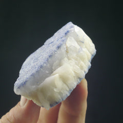 Dumortierite on Quartz - Enchanted Crystal