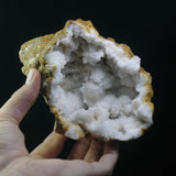 Quartz and Calcite Geode (a-622)