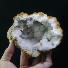 Quartz and Calcite Geode (a-623)