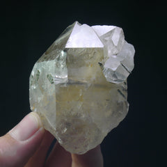 Epidote in Quartz - Enchanted Crystal