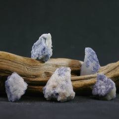Dumortierite on Quartz - B an C Grade - Enchanted Crystal