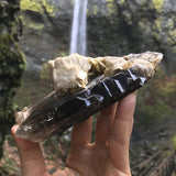 Smokey Quartz on Mica and Feldspar (a-310)