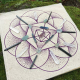 Crystal Grid Design 2 - Natural White and Purple