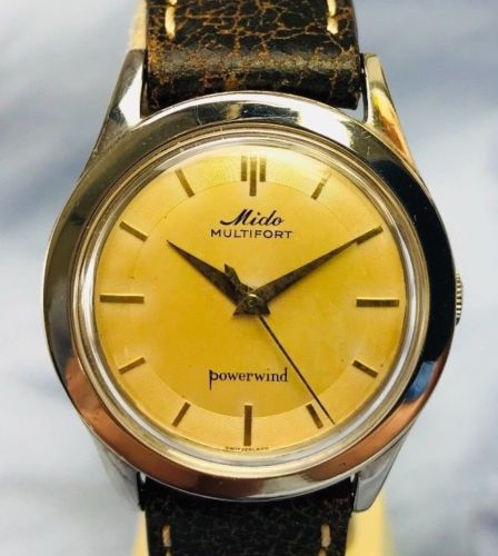 Vintage 1960's Mido Powerwind Multifort Automatic Limited Edition